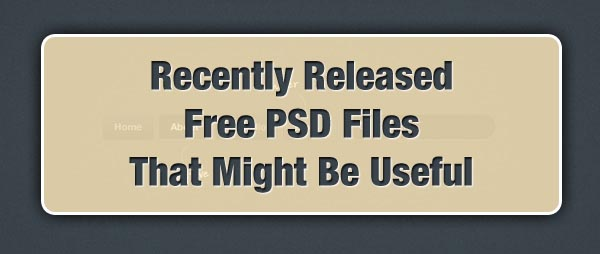 Recently Released Free PSD Files That Might Be Useful