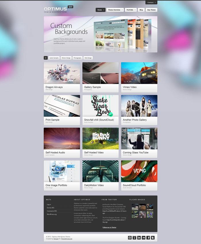 Showcase of Responsive Wordpress Theme Design - 26 Examples