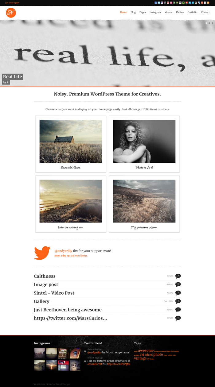 Noisy - Responsive Theme for Creatives