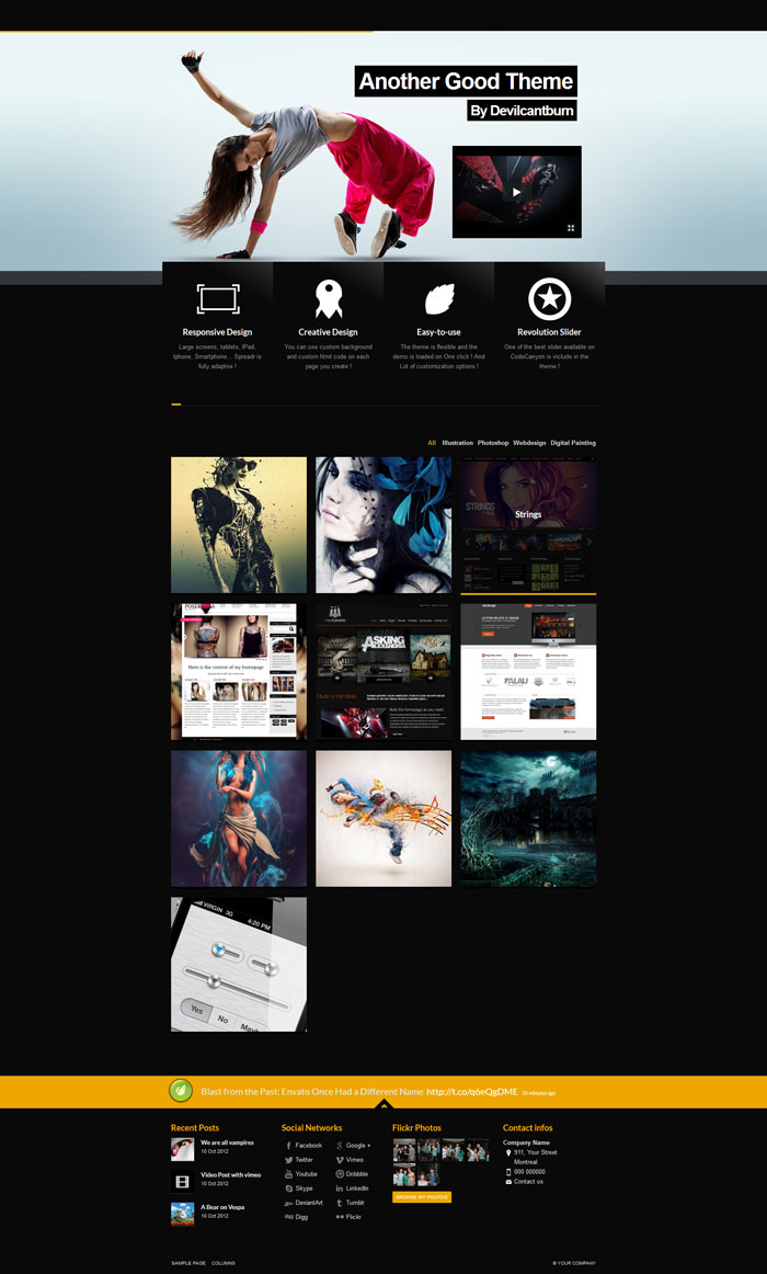 Spreadr - A Multipurpose Responsive WP Theme