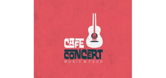 Café Concert Restaurant Logo Design