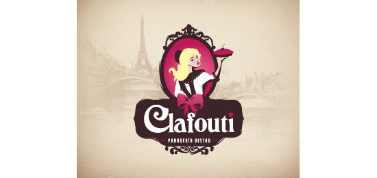 Clafouti Restaurant Logo Design