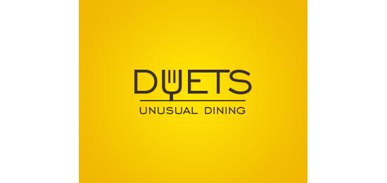Duets Restaurant Logo Design