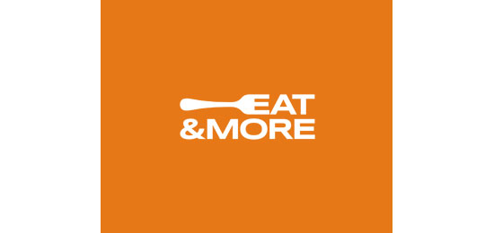 Eat & More Restaurant Logo Design