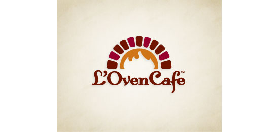 L'Oven Cafe Restaurant Logo Design