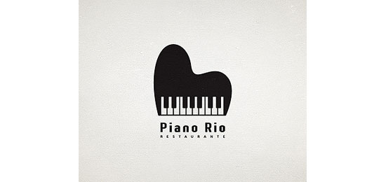 Piano Rio Restaurant Logo Design