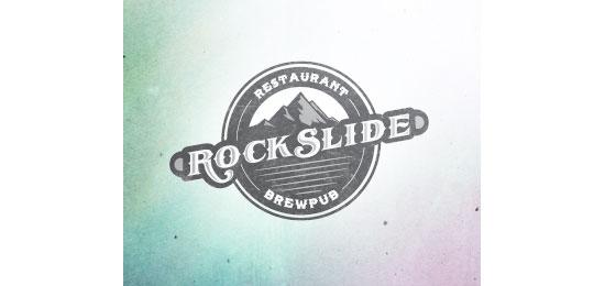 Rockslide Restaurant Logo Design
