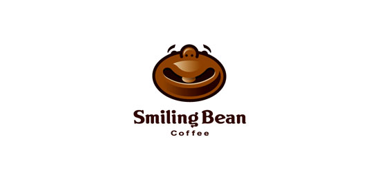 Smiling Bean Restaurant Logo Design