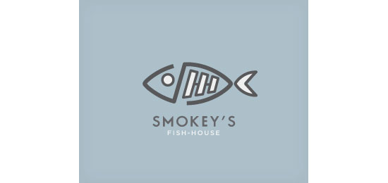 Smokey's Fish-House Restaurant Logo Design