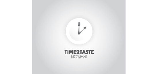 Time2Taste Restaurant Logo Design