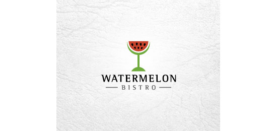 Watermelon Bistro Restaurant Logo Design