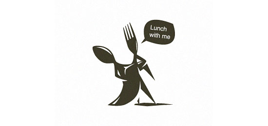 lunch with me Restaurant Logo Design