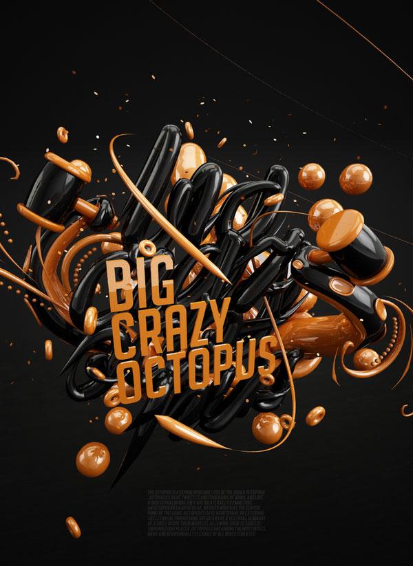 Big Crazy Octopus Russian Design Inspiration