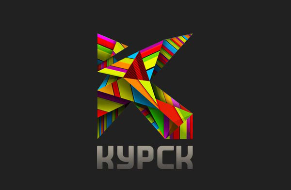 Logo of the city of Kursk. Case Two Russian Design Inspiration