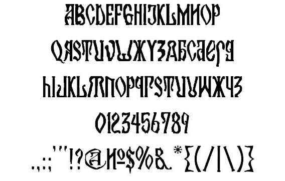 Kremlin orthodox church free russian font for download