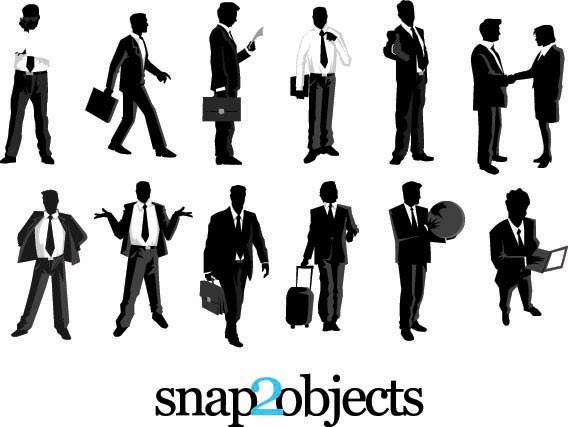 Huge Collection Of 55 Vector Silhouettes Free To Download
