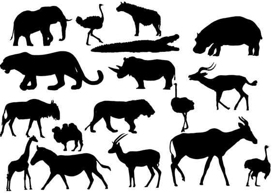 Download African Animals Silhouettes