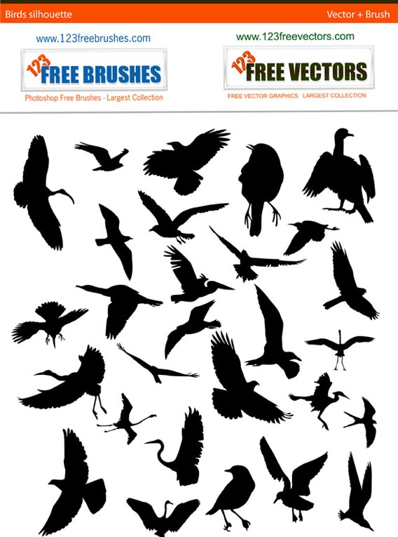 Download Bird Silhouette Free Pack