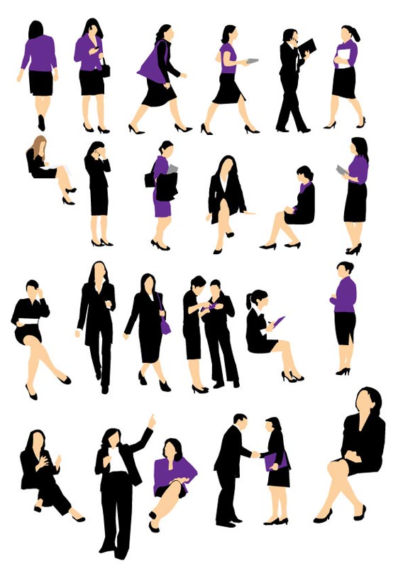 Download Business woman silhouette