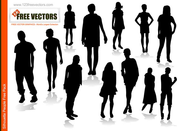 Download People vector silhouettes