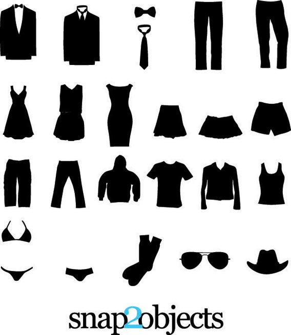 Download Free vector clothing silhouettes
