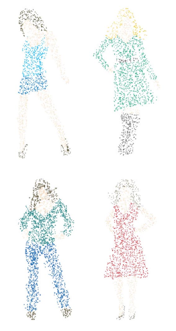 Download Free dotty women vector graphics silhouettes