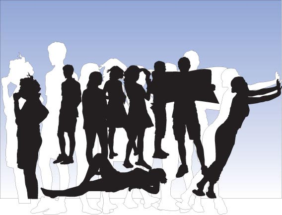 Download Everyday People 1 silhouettes