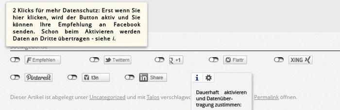 2 Click Social Media Buttons