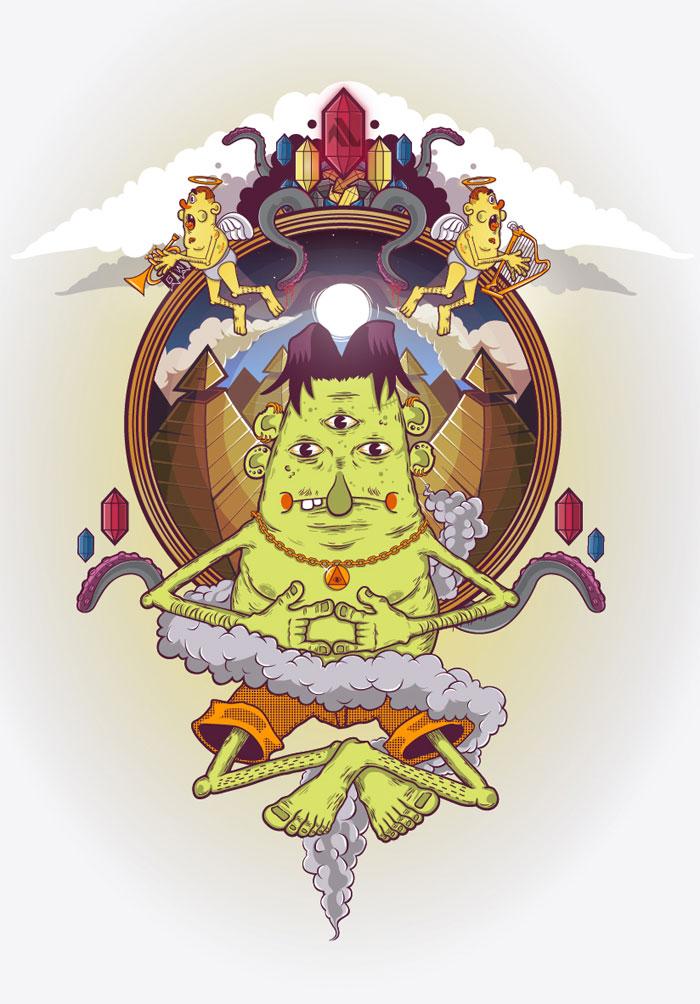 God of Weirdness Vector Design Inspiration