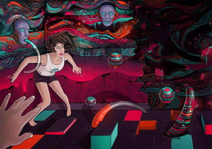 Distorted Reality Vector Design Inspiration