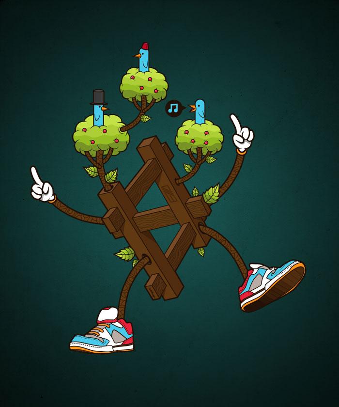 Tree diagram Vector Design Inspiration
