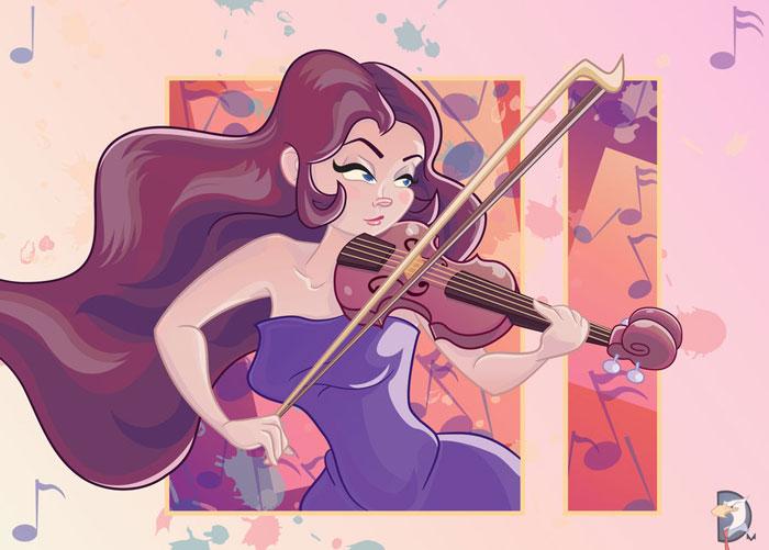 Violinist Vector Design Inspiration
