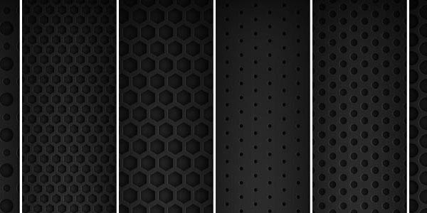 8 Dark Metal Grid Patterns Pattern for Web Design