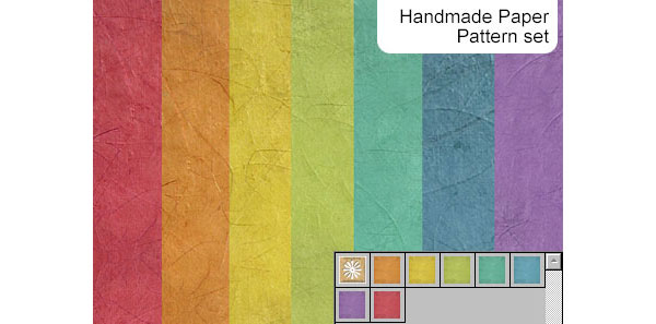 Handmade paper pattern set Pattern for Web Design