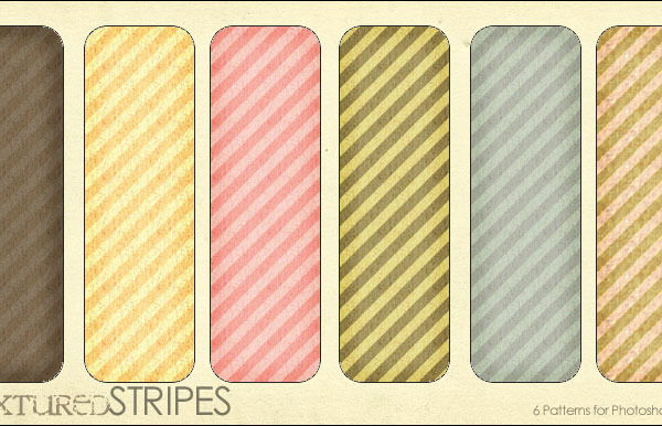 Textured Stripes - 6 patterns Pattern for Web Design