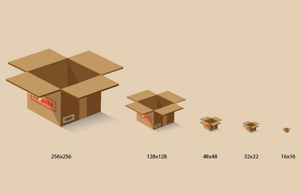 Create a 3D Shipping Package Box Icon in Illustrator