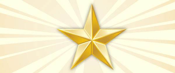 Create a metallic star in Illustrator