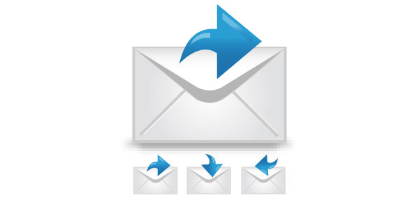 Create an envelope icon with a satin feel