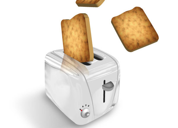 Creating a Toaster-Popping Illustration