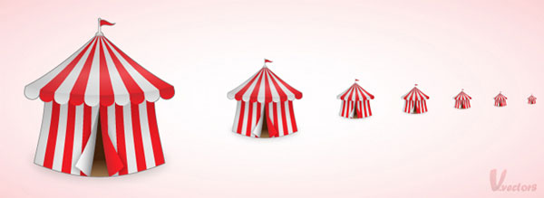 How to Create a Fun Circus Tent Icon