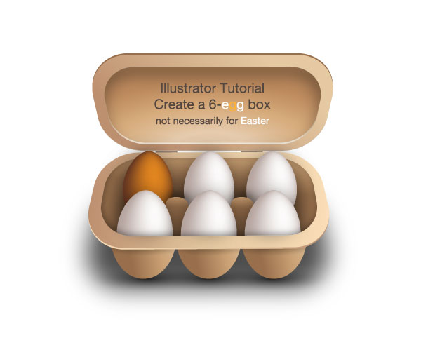 illustrator tutorial: create a 6-egg box