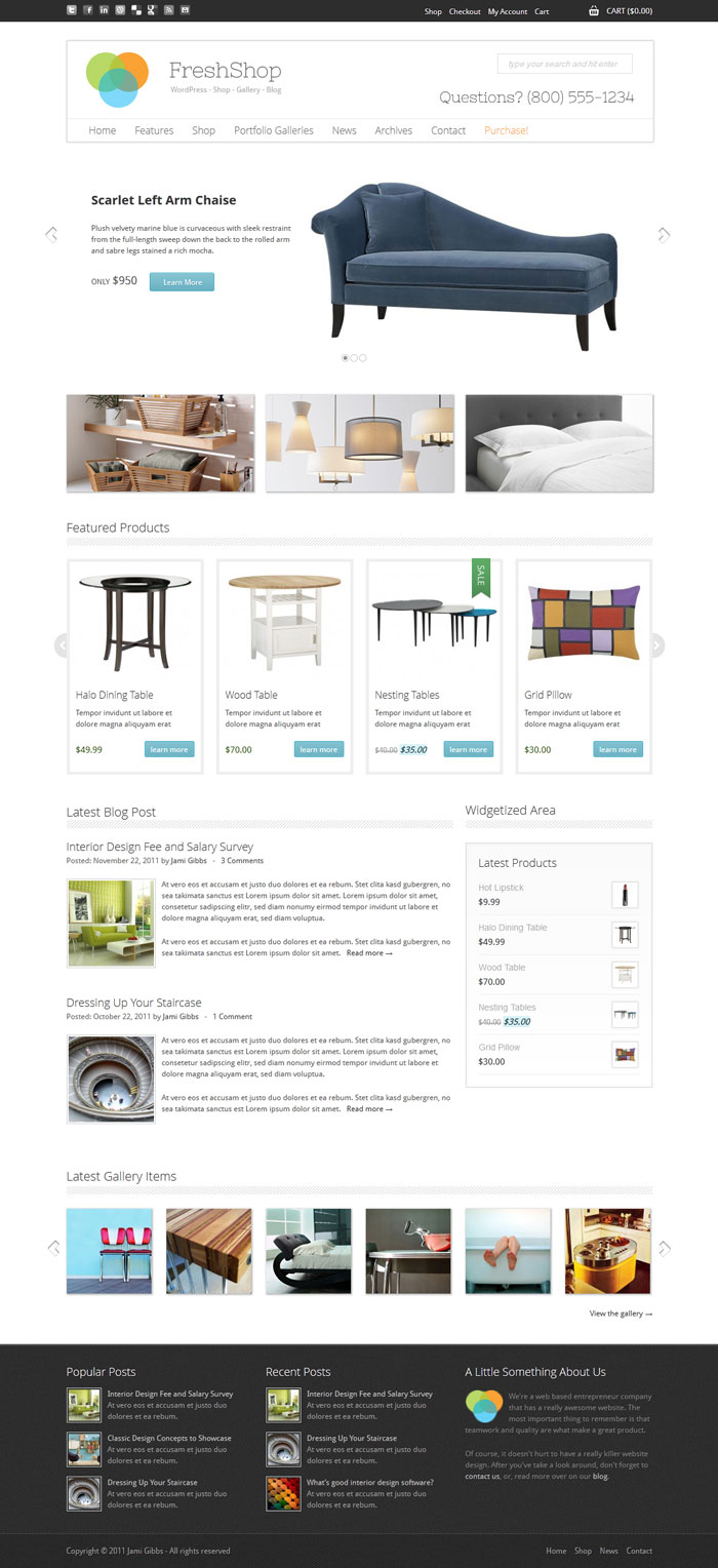 FreshShop WordPress Theme Design