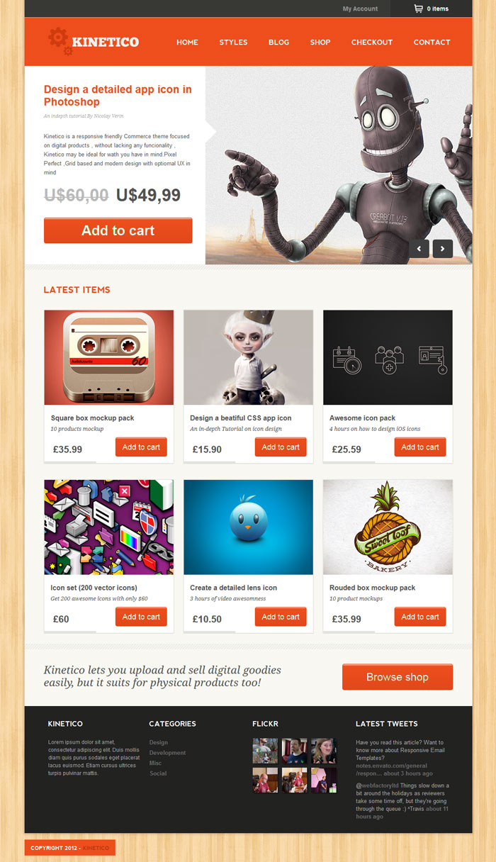 Kinetico WordPress Theme Design