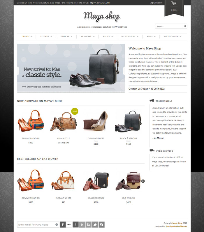 Maya WordPress Theme Design