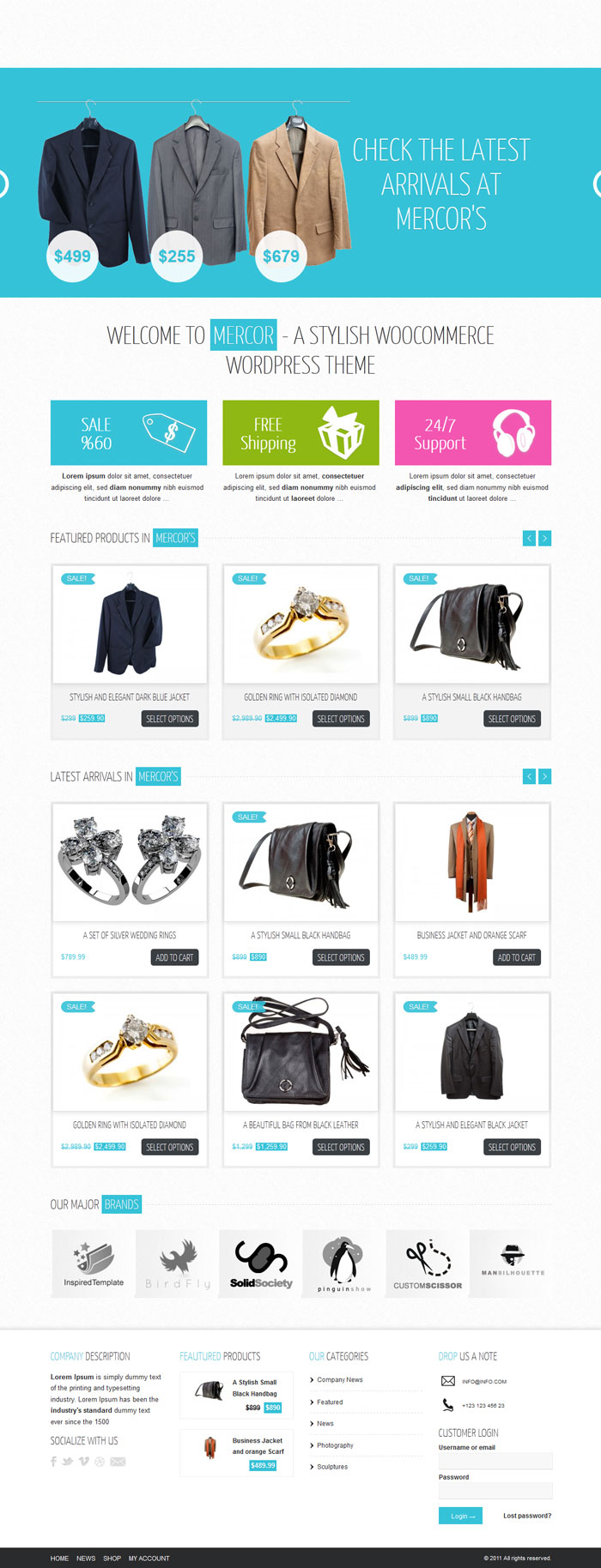 Mercor WordPress Theme Design