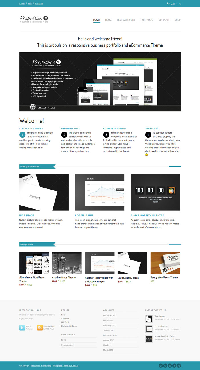 Propulsion WordPress Theme Design