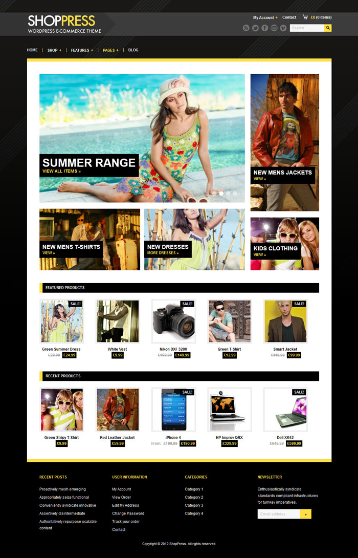 ShopPress WordPress Theme Design