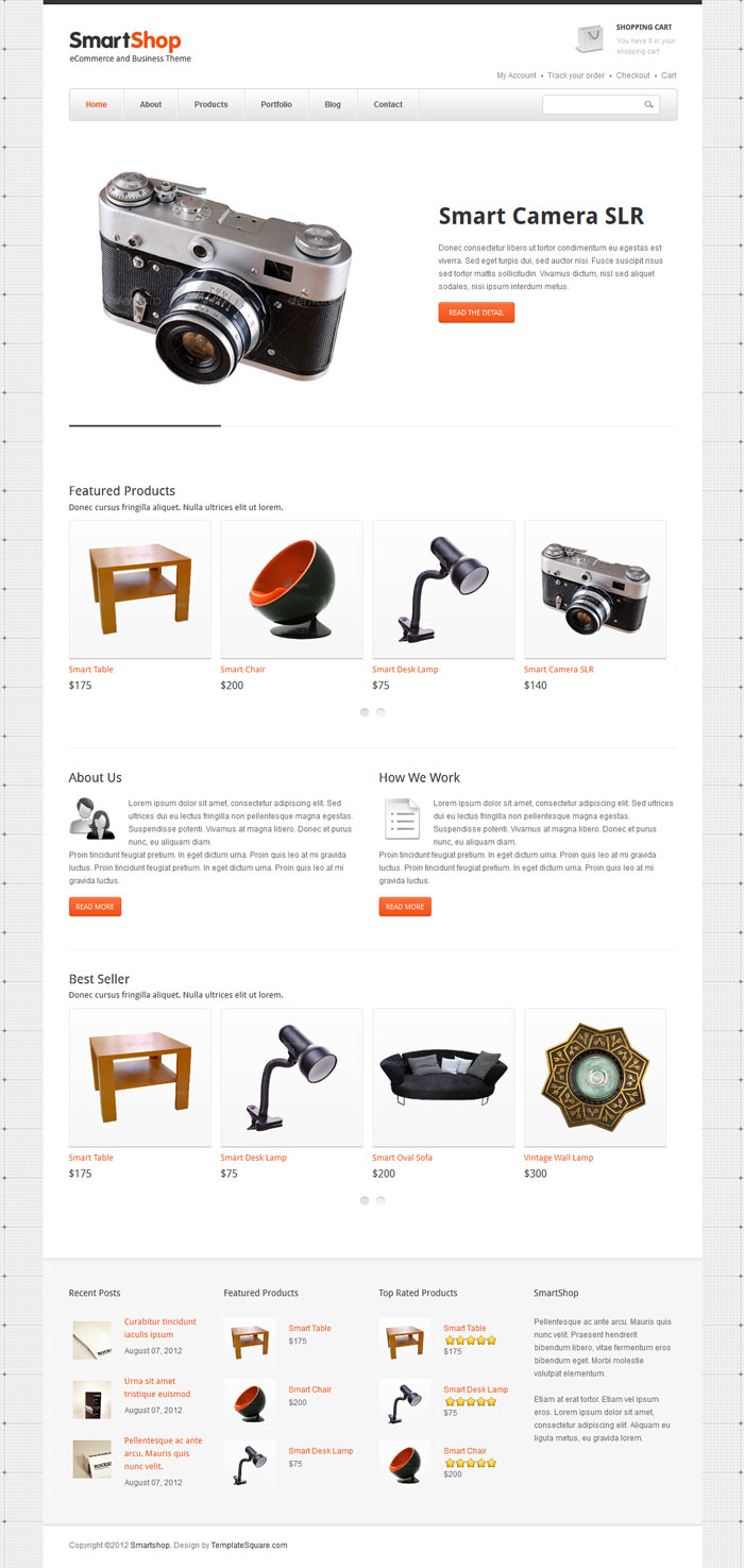 SmartShop WordPress Theme Design
