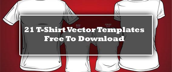 21 Blank T-Shirt Vector Templates Free To Download