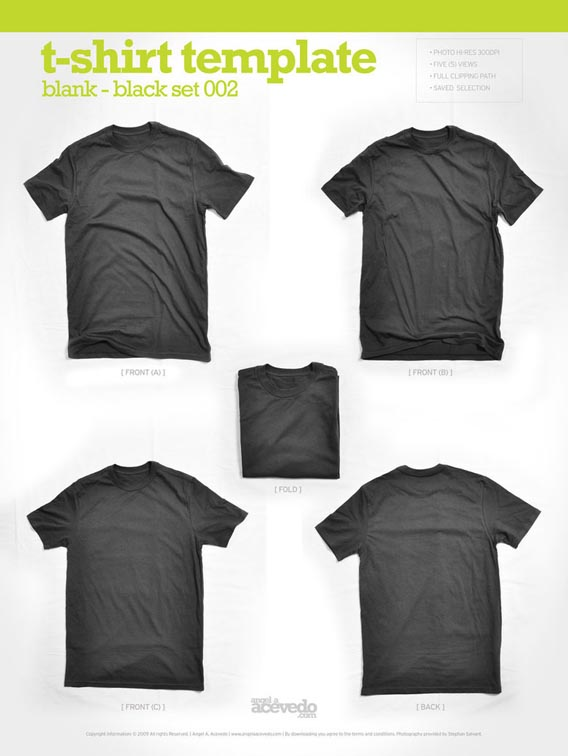 Blank_T_Shirt___Black_002_by_djsoundwav 82 Free T-Shirt Template Options For Photoshop And Illustrator